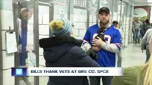 Bills thank veterans at Erie Co. SPCA [Video]
