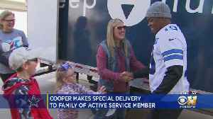 Cowboys Amari Cooper Delivers New Mattress To Family Of Active Duty Service Member [Video]