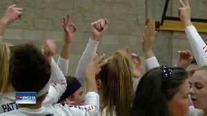 Three local volleyball teams open up state playoffs in town [Video]