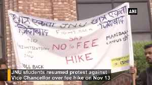 JNU students resume protest against fee hike [Video]