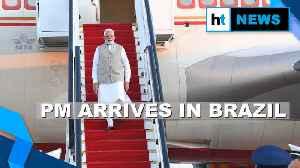 Watch: PM Modi's message in Portuguese after arrival in Brazil | BRICS meet [Video]