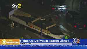 F-117 Nighthawk Stealth Fighter Brought To Reagan Library In Pieces [Video]