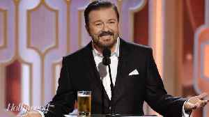 News video: Ricky Gervais Set to Host 2020 Golden Globes | THR News