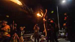 Clashes turn HK university into 'battleground' [Video]