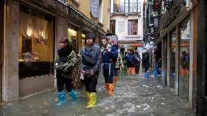 Venice flooding at historic levels during high tide [Video]