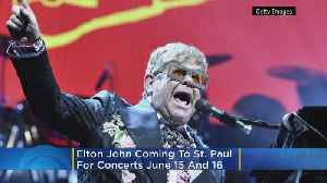 Elton John To Perform 2 Shows In St. Paul This Summer [Video]
