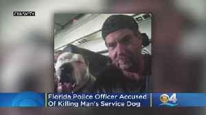 News video: Florida Police Officer Shot, Killed Service Dog