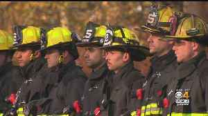 Firefighters Line Road To Honor Lt. Jason Menard [Video]