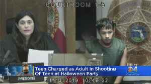 Teen Charged As Adult In Shooting Death Of Teen At Halloween Party [Video]