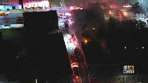 Crews Battle Large Fire In West Baltimore [Video]