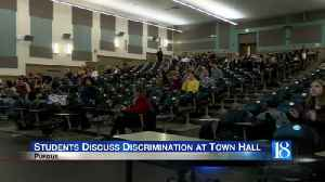 Purdue Students discuss discrimination at town hall meeting [Video]