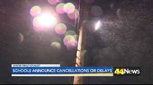 Schools Announce Cancellations Or Delays [Video]