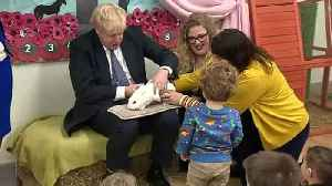 PM cuddles Rosie the rabbit and sings songs with pupils [Video]