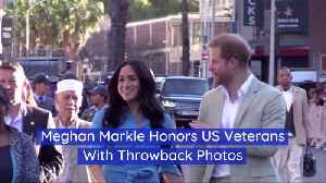 Meghan Markle Honors US Veterans [Video]