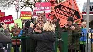 """Boris out"" chants heard outside school PM visited [Video]"