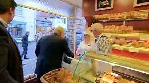 PM serves up pasties on visit to Wells [Video]