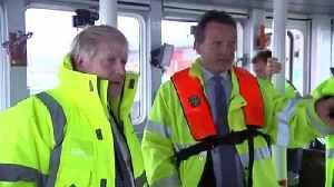 Boris Johnson drives dredger on Bristol port visit [Video]
