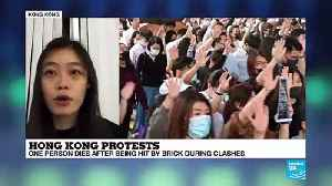 Hong Kong protests: one person dies after being hit by brick during clashes [Video]