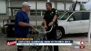 Punta Gorda man is surprised with new bicycle from Charlotte County Sheriffs office [Video]