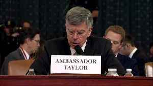 Taylor says he 'sat in astonishment' when staffer said Ukraine aid was put on hold [Video]
