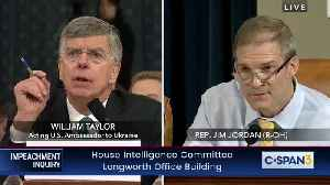 """Republicans Directly Tell Bill Taylor: """"I Can't Believe You Are Their Star Witness"""" [Video]"""