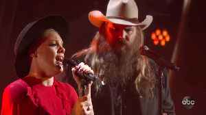 P!nk and Chris Stapleton Perform 'Love Me Anyway' at CMA Awards 2019 [Video]