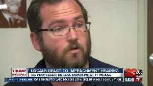 People react to impeachment hearing, local expert weighs in on process [Video]