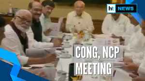 Watch: Inside visuals of Congress-NCP meet to decide common programme [Video]