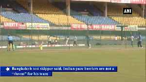 Bangladesh Skipper doesn't consider Indian pace attack a threat [Video]