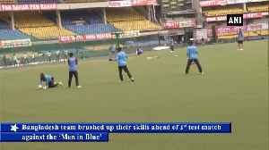 Bangladesh team practices in Indore ahead of first test against India [Video]