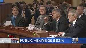 Public Impeachment Inquiry Hearings Begin In Washington [Video]