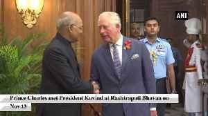 Prince Charles meets President Kovind at Rashtrapati Bhavan [Video]