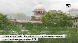 News video: Supreme Court brings CJI's office under RTI