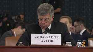 Top Diplomat Bill Taylor Reveals New Details At Impeachment Hearing [Video]