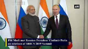 PM Modi meets Russian President Vladimir Putin on sidelines on BRICS Summit [Video]