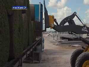 WEB EXTRA: Inter Miami CF Lays Down Turf At Lockhart Stadium [Video]