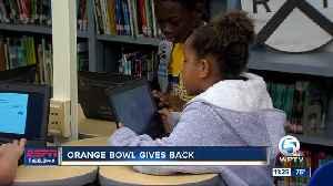 Orange Bowl gives back to Sunset Elementary 11/13 [Video]