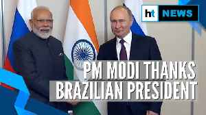 News video: PM Modi thanks Jair Bolsonaro for giving India visa-free entry into Brazil