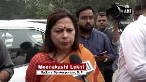 Better methodology of doing politics should prevail Meenakshi Lekhi [Video]