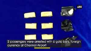 Custom officials seize over 11kg gold, foreign currency at Chennai airport [Video]