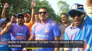 India vs Bangladesh Test 1 Fans flock to Indore stadium to support their team [Video]