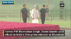 News video: Manmohan Singh, Sonia Gandhi pay tribute to Jawaharlal Nehru on his birth anniversary