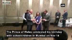 Prince Charles celebrate his 71st birthday with schoolchildren in Mumbai [Video]