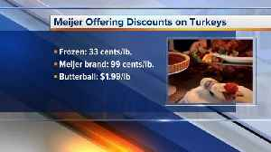 Meijer offering discounts on turkeys [Video]