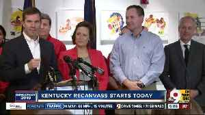 News video: Recanvassing to begin in Kentucky after contested governor's race