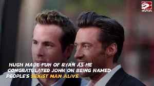 Hugh Jackman mocks Ryan Reynolds in message to John Legend [Video]