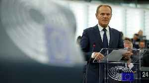 News video: EU Council president Tusk praises EU unity, warns post-Brexit UK to become 'second-rate player'