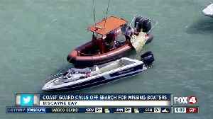 Coast Guard calls off search for missing boaters [Video]