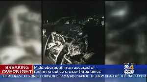 Man Charged With Ramming Police Cruiser Three Times [Video]