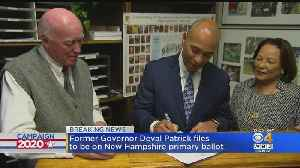 News video: Deval Patrick Officially Joins Race For President In New Hampshire